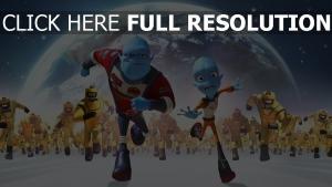 fuyons la planète terre personnages principaux poursuite