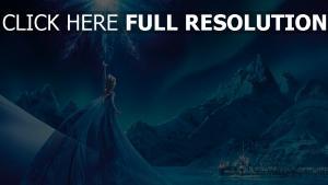 la reine des neiges elsa robe sort de magie