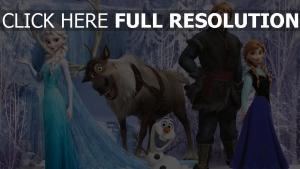 la reine des neiges personnages principaux forêt