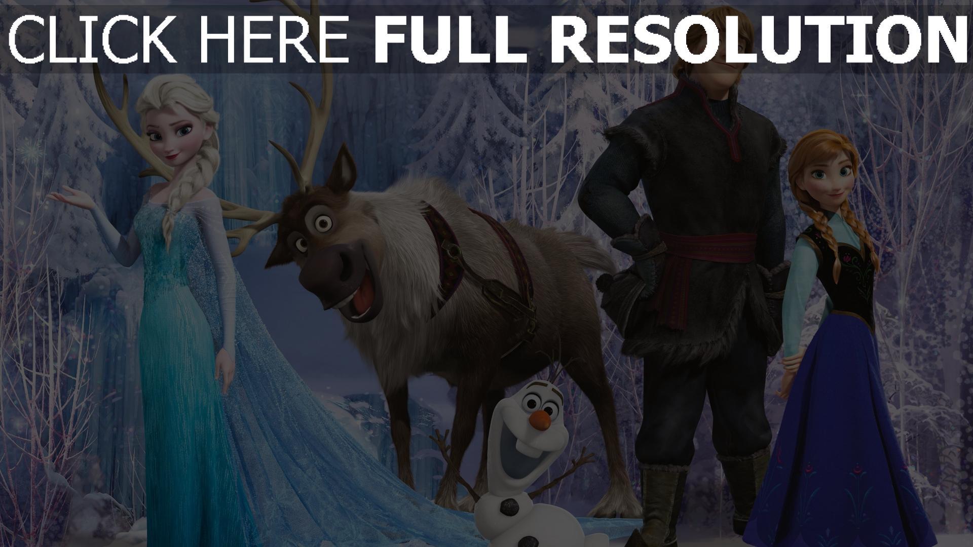 Fond d 39 cran hd la reine des neiges personnages principaux - Personnages reine des neiges ...