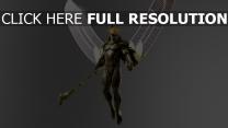 les dieux d'ègypte anubis bâton aile