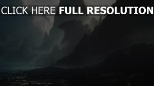 godzilla montagne océan