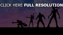 les gardiens de la galaxie peinture silhouette