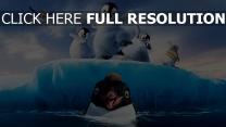 les petits pieds du bonheur iceberg pingouin