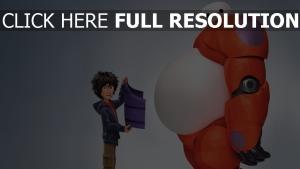 big hero 6 robot personnages principaux