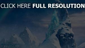 la reine des neiges palais montagne