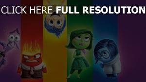 inside out personnages principaux