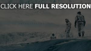 interstellaire montagne neige astronaute