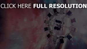 interstellaire vaisseau spatial hyperespace