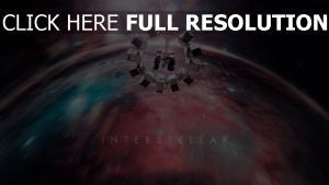 interstellaire vue de dos vaisseau spatial