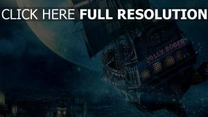 peter pan vaisseau volant lune