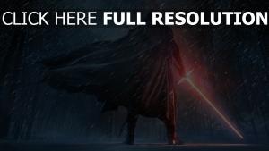 kylo ren manteau tempête de neige sabre laser