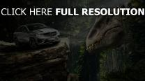 monde jurassique dinosaure mercedes forêt