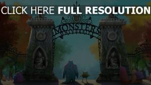 l'université des monstres porte automne