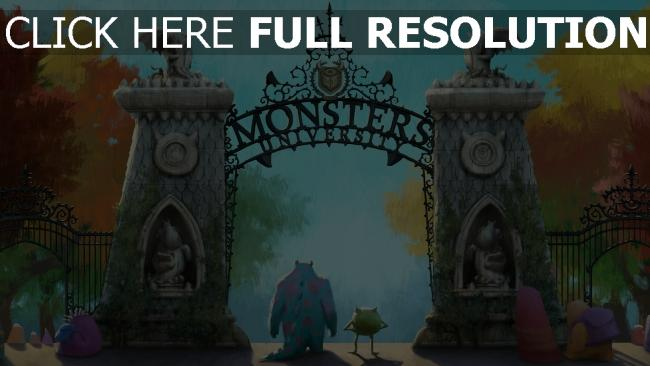 fond d'écran hd l'université des monstres porte automne