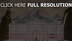 grand hôtel budapest affiche bâtiment