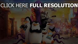 pingouins de madagascar personnages principaux vue de face