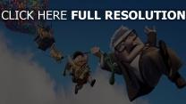 film d'animation aérostat ciel