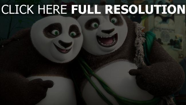 fond d'écran hd kung fu panda geste sourire