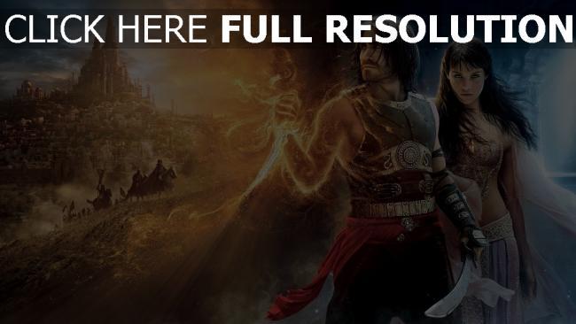 fond d'écran hd prince of persia affiche personnages principaux jake gyllenhaal