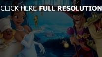princesse et la grenouille robe de soirée personnages principaux