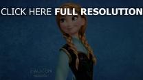 anna la reine des neiges sourire
