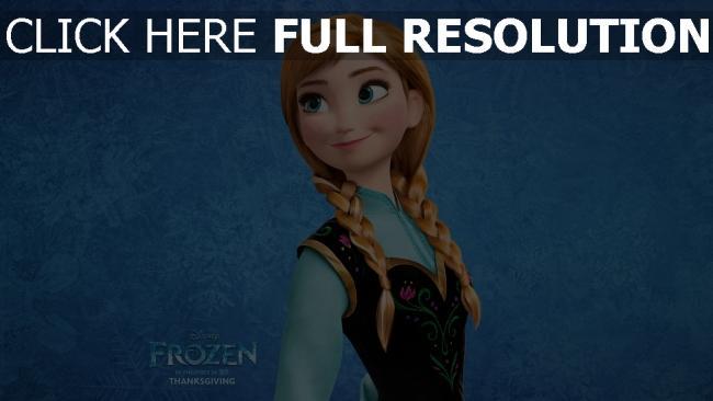 fond d'écran hd anna la reine des neiges sourire