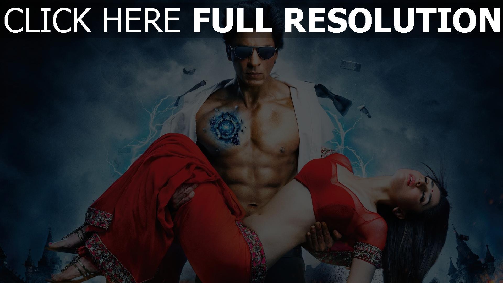 fond d'écran 1920x1080 voltage cyborg shahrukh khan couple kareena kapoor