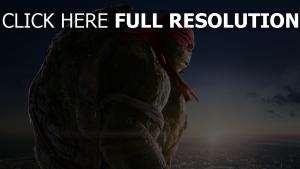 tortues ninja raphael vue de côté