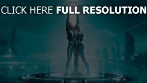tron l'héritage néon lumineux personnages principaux