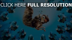 écureuil piranha l'ère de glace