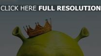 shrek film d'animation couronne