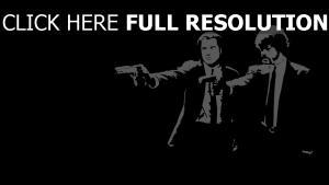 pulp fiction personnages principaux noir et blanc