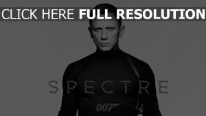 007 spectre daniel craig affiche noir et blanc