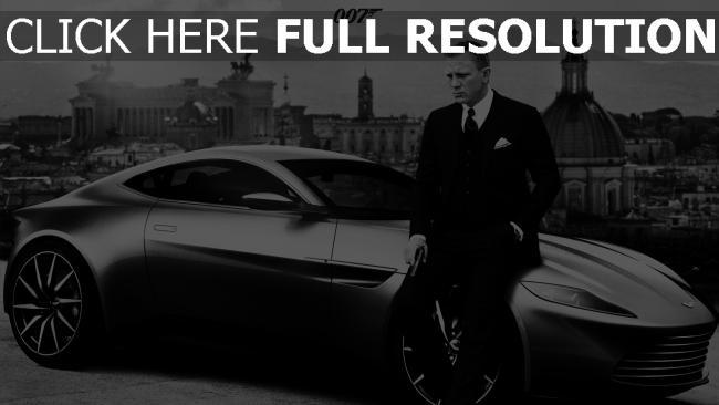 fond d'écran hd 007 spectre daniel craig costume voiture sportive de prestige