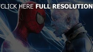 homme araignée super-vilain foudre