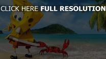 bob l'éponge île crabe