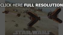 star wars désert poussière voiture de sport