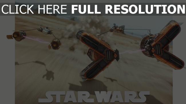 fond d'écran hd star wars désert poussière voiture de sport