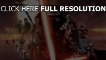 star wars sabre laser personnages principaux