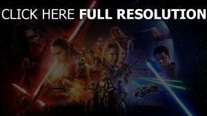 star wars affiche sabre laser