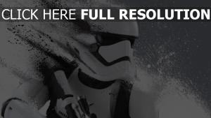 stormtrooper éclaboussure noir et blanc