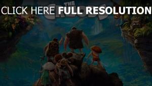 les croods affiche personnages principaux