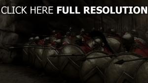 300 guerrier bouclier lance