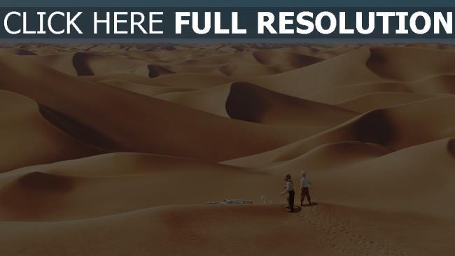 fond d'écran hd les aventures de tintin desert silhouette