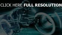 tron l'héritage moto néon turquoise