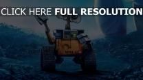 wall-e film d'animation triste robot geste
