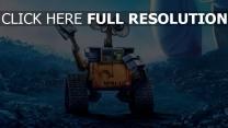 wall-e film d'animation triste robot geste