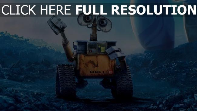 fond d'écran hd wall-e film d'animation triste robot geste