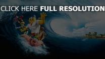 bob l'éponge vague surf